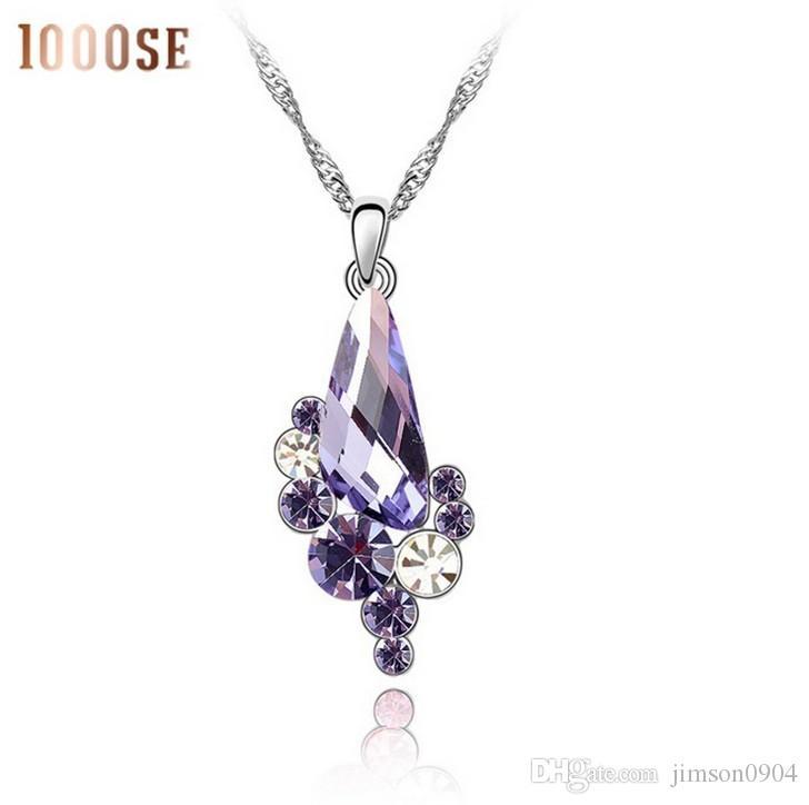 2017 nouveau Un véritable utilisant SWAROVSKI Elements Crystal Collier - Gem Femme haut de gamme bijoux vente en gros fabricants