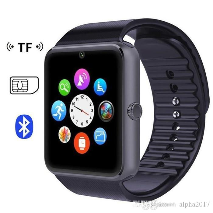 GT08 Bluetooth Smart Watch with SIM Card Slot and TF Health Watchs for Android Samsung and Smartphone Bracelet Smartwatch With Package