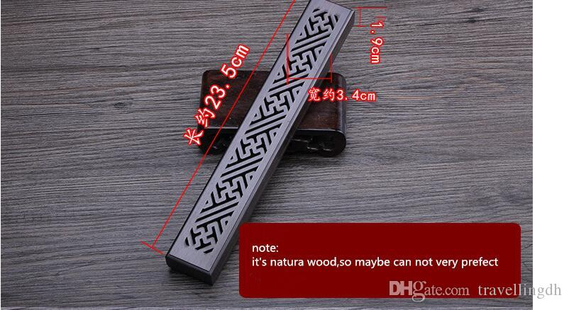 Lying Incense Burners Zen Box Ebony Wood Carving Hollow Sandalwood Pomander For Spa Club/Home Hot Selling Incense Holders