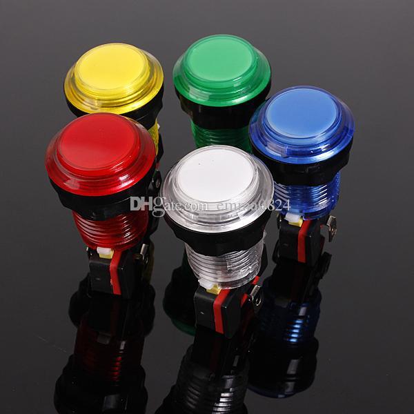 12 V 25A 32mm pequeno Rodada Iluminado Iluminado Arcade Video Game Botão Interruptor com Lâmpada de Luz LED