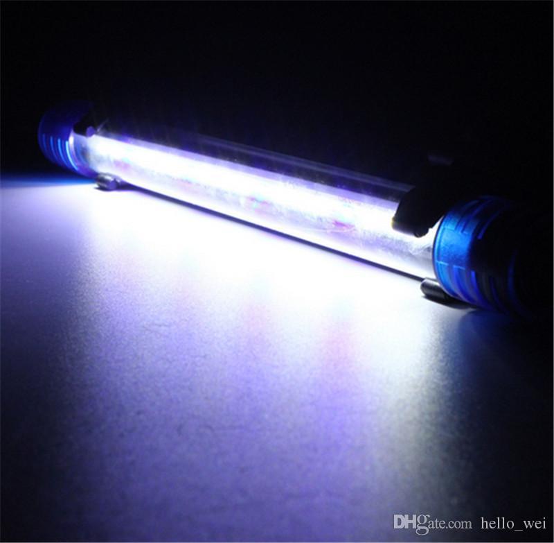 Réservoir de poissons d'aquarium de lumière de barre de RVB LED 20CM 1W 2835 18 SMD imperméable bleu blanc submersible vers le bas de lampe allumant AC220V