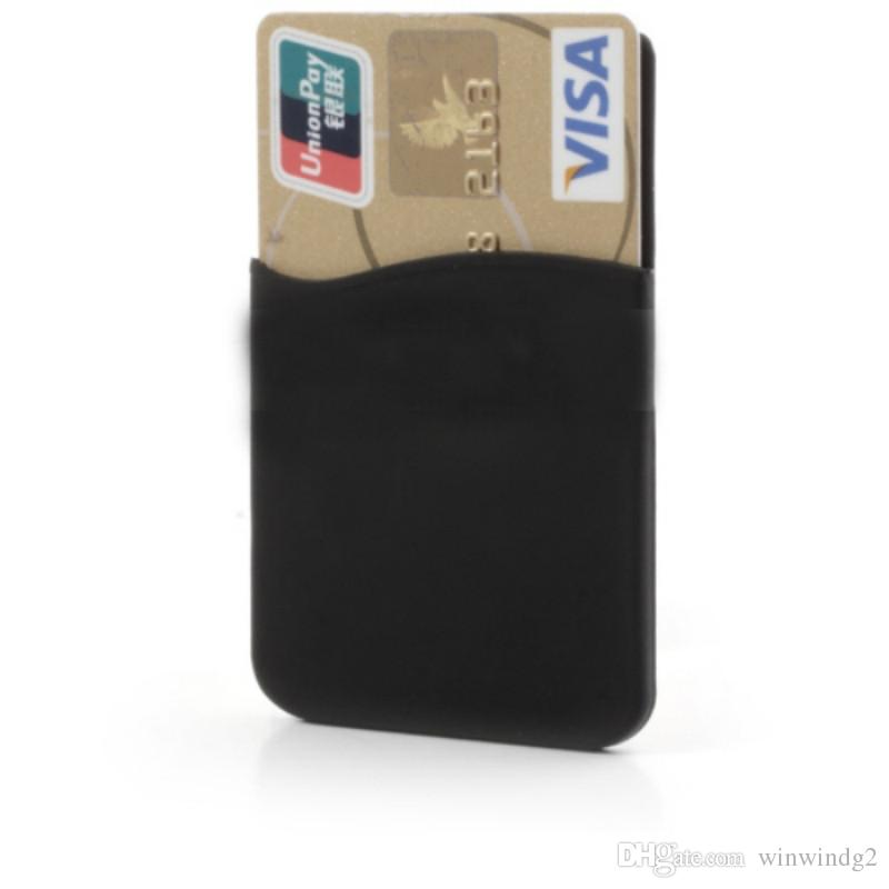 U&I® Cell Phone Wallet, Silicone 3M Sticker ID Card Credit Card Pocket Pouch Sleeve Holder for Smart Phone