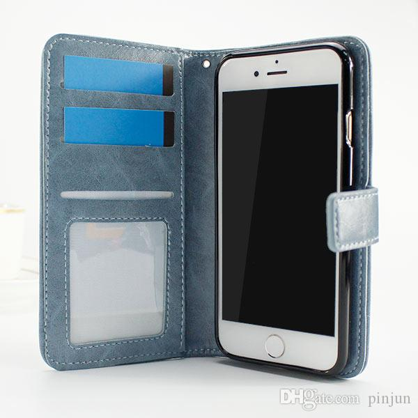 For ZTE Grand X4 Z956 Grand X Max 2 Z988 Z963U Kirk Flip PU Leather Wallet Case Cover inside Photo Frame Card Slots
