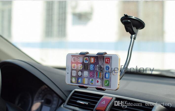 Universal 360 Degree Rotation Suction Cup Car Mount Holder Windshield Stand Swivei Holder Bracket for iphone Samsung LG HTC cell phone