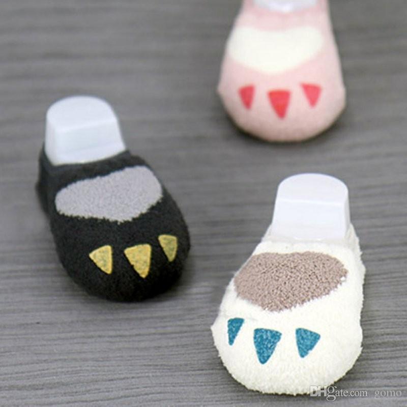 d39d8d0fff8ce Baby Non-slip Slipper Socks Coral Velvet Kids Warmer Ankle Sleep Socks 0-4Y