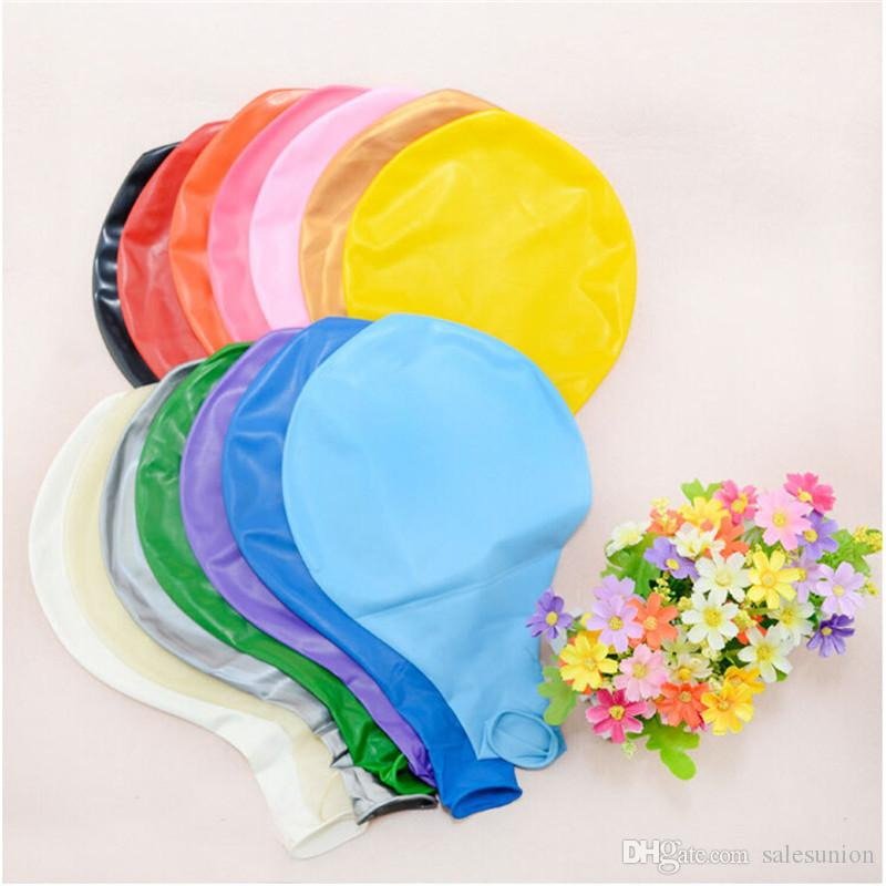 36 inch big multi color inflatable latex ballons birthday party wedding balloons decorations festival balloon wholesale drop shipping