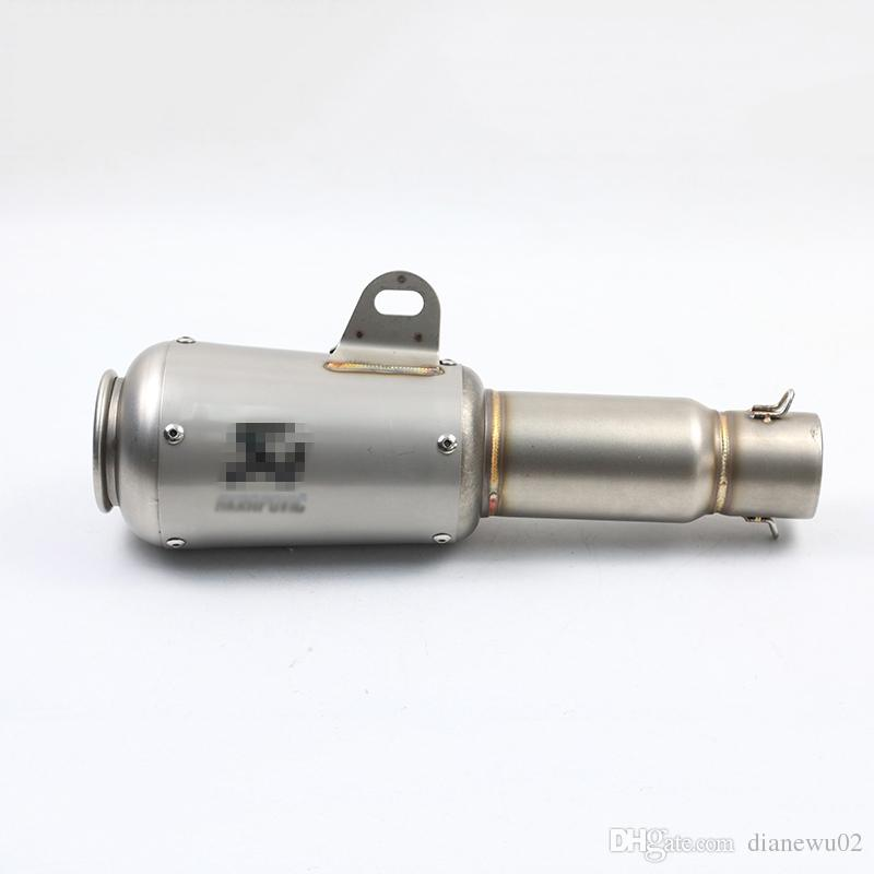 Universal Motorcycle Exhaust Muffler Pipe Stainless Steel Exhaust System With Removable DB Killer Scooter Motorcycle Street Bike 38-51mm