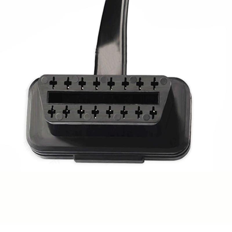 16-контактный OBD2 удлинитель удлинитель удлинитель линия Локоть провод L тип OBD кабель адаптер использовать для OBD2 интерфейс автомобилей ленточный кабель