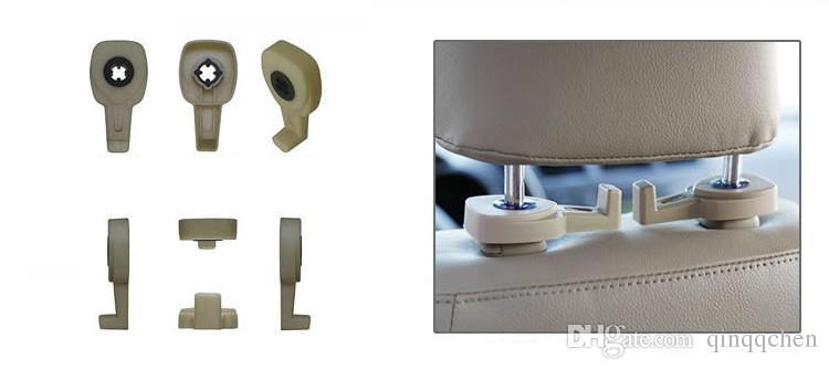 Accessoires intérieurs de voiture en gros / Portable Auto Caché Siège Cintre Sac à main Organisateur Titulaire Crochet Têtière