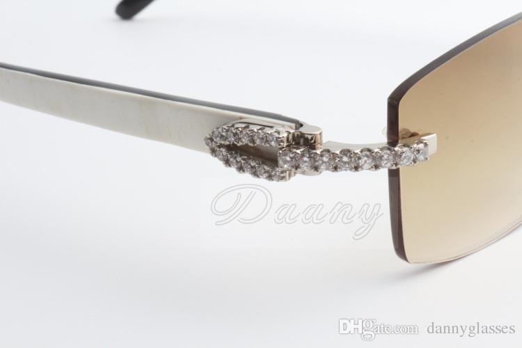 2017 neue Verkauf begrenzte große Diamant-Sonnenbrille männlich und weiblich gemischte Hörner Sonnenbrille 3524012 2 Größe: 56-18-135mm