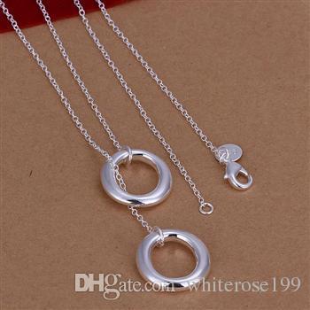 Hurtownie - Detal Najniższa cena Christmas Gift, Darmowa Wysyłka, Nowy Nowy 925 Srebrny Necklaceb N162