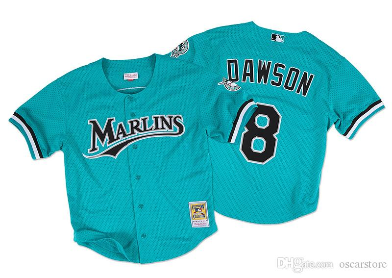 aa904f440cbe27 2017 men florida marlins jerseys 8 andre dawson jersey flexbase cool base  home ...
