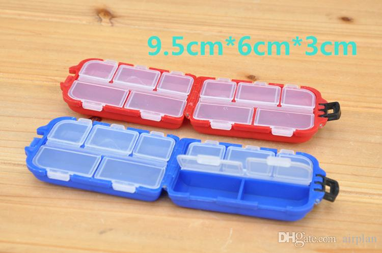 Delicate Colorful Plastic Fishing Tackle Boxes Compartments 5 Storage Hook Case Outdoor Pesca Fishing Box Lure Bait Storing Tool