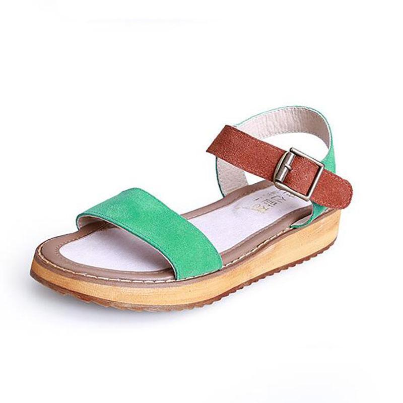 1fd500d61ecf65 Women Summer Sandal Thick Soled Sandals Female Summer Students A Slip With  Flat Sandals All Match Muffin Leisure Korean Tide Women Sandals Pink Shoes  Salt ...