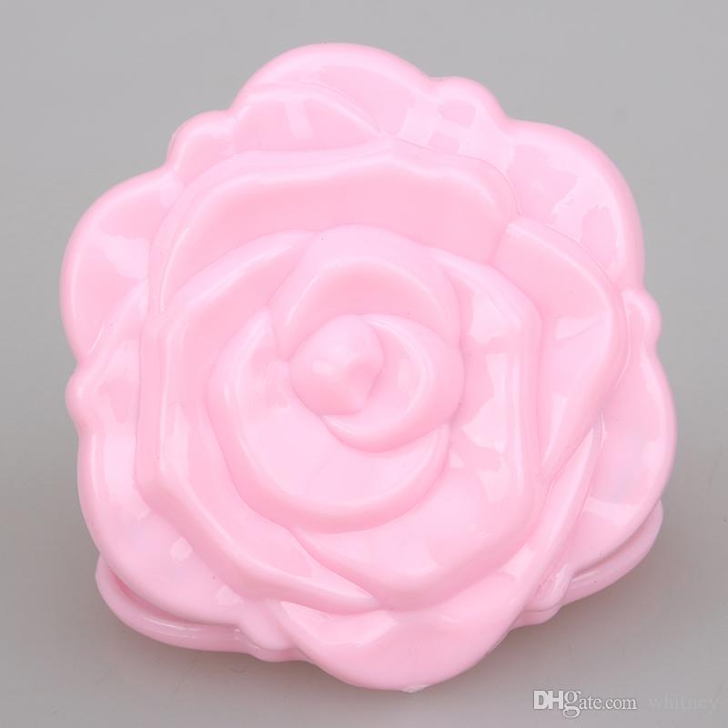 Novo 3D Rose Compact Cosmic Mirror Cute Girl Makeup Mirror MD51 12 Pçs / lote Frete Grátis