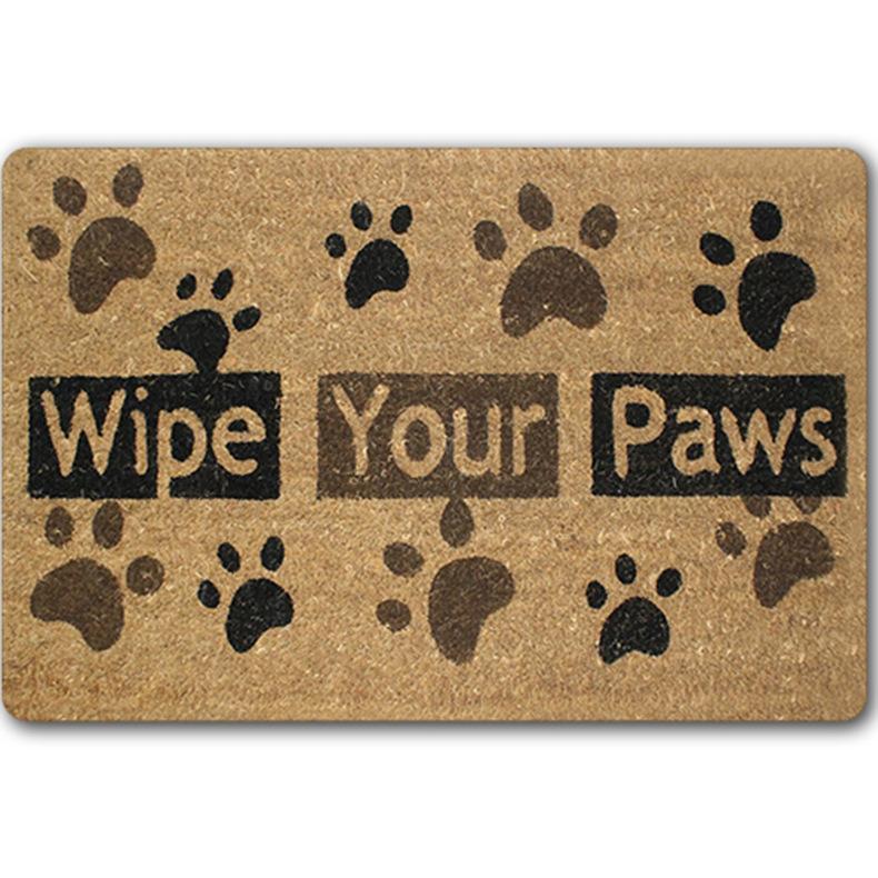 Dog Throw Up On Sisal Rug: Door Welcome Rubber Floor Mats Bathroom Dog Paw Area Rugs