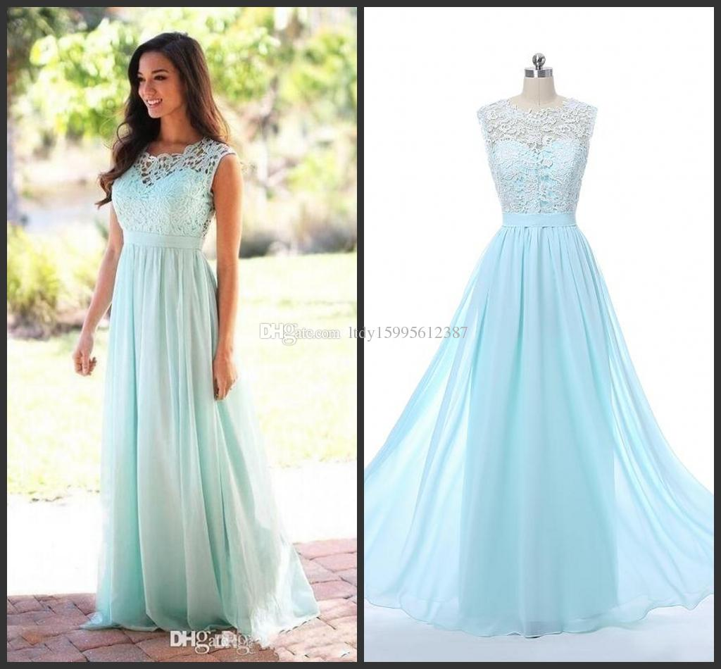 2017 cheap coral mint green long junior bridesmaid dress lace 2017 cheap coral mint green long junior bridesmaid dress lace chiffon country style beach bridesmaid dresses formal gowns the real picture 6 maid of honor ombrellifo Image collections
