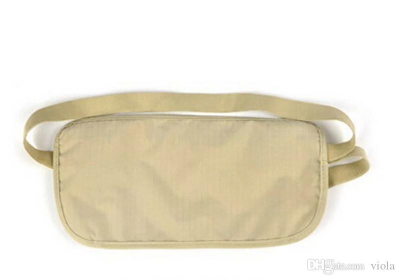 Travel Storage Bag Money Security Purse Waist Pack Purse Money Coin Cards Passport Waist Belt Tickets Bag Pouch New