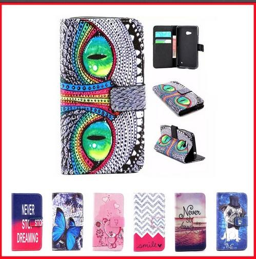 separation shoes c1780 2ff99 For Nokia Lumia 640 LTE Case Luxury Wallet PU Leather Phone Cover For  Microsoft Lumia 640 LTE Dual SIM Case Flip back Cover Skin