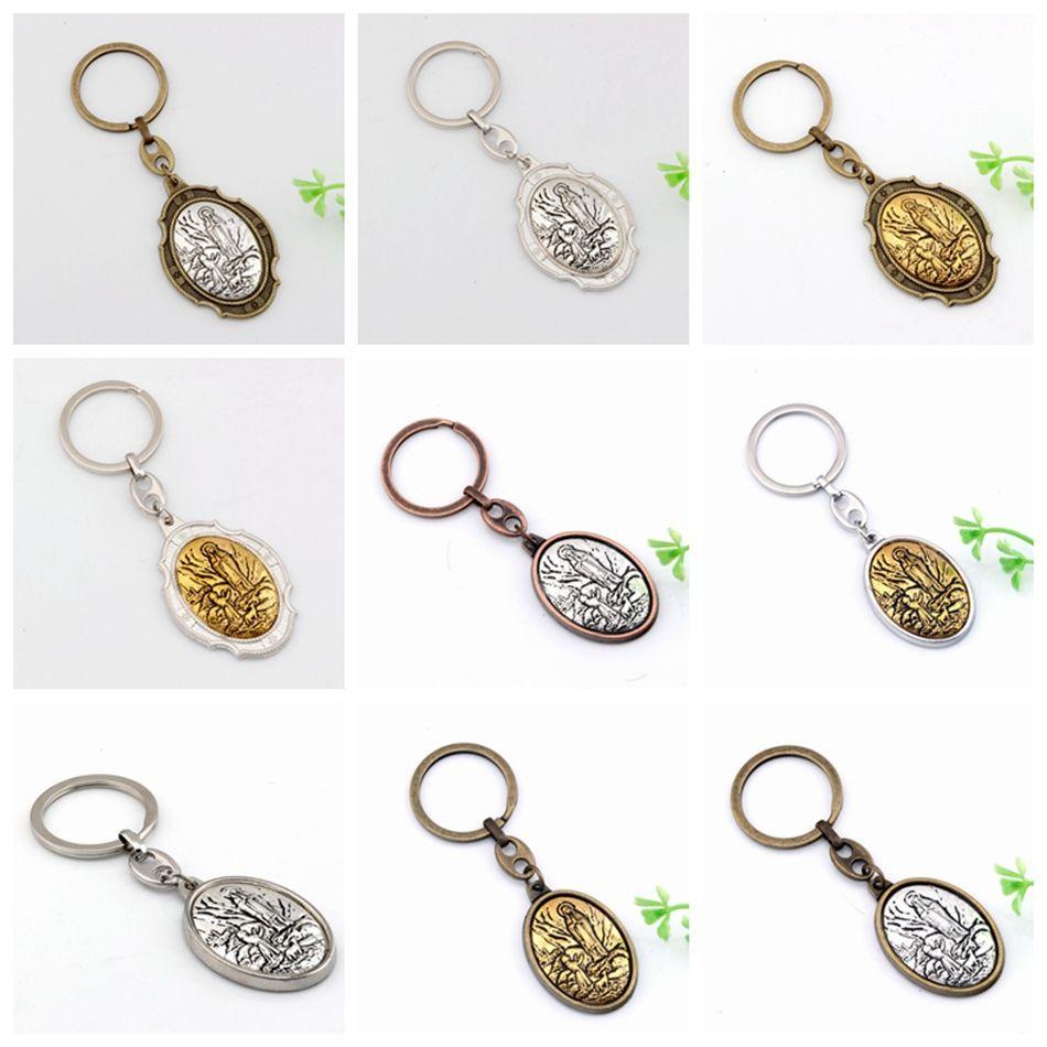 MIC Virgin Mary 2 inch Motorcycle Biker or Key Ring Keychain