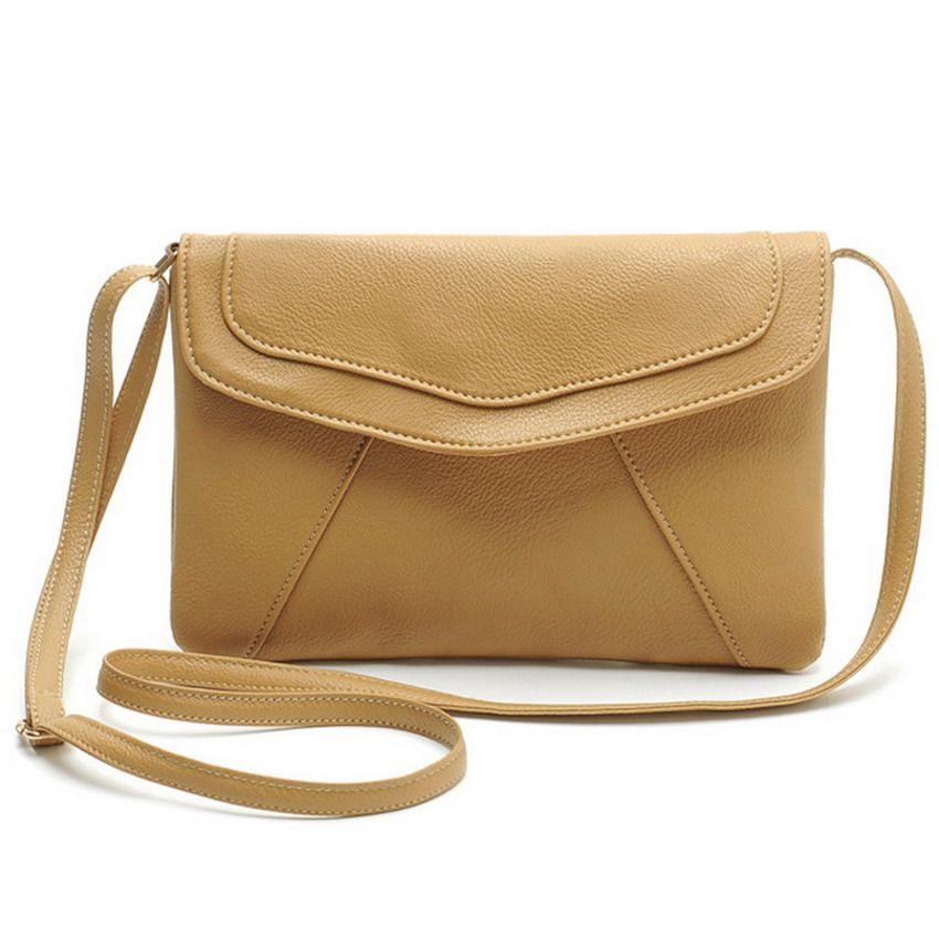 Vintage Leather Handbags Hot Sale Women Envelope Clutches Ladies ...
