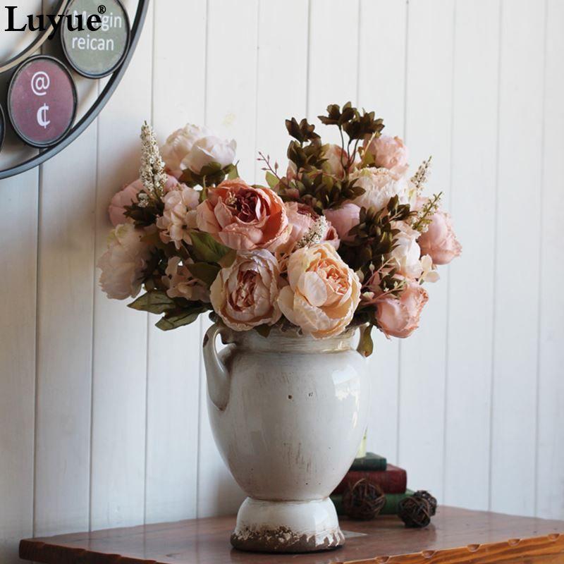 Grosshandel Vintage Seidenblume Europaischen 1 Bouquet Kunstliche