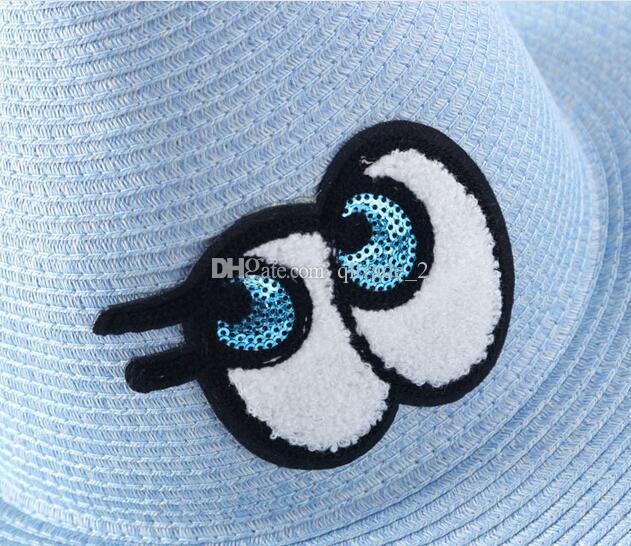 Nuovi grandi occhi estivi Cappello di paglia del paglia di paglia Cappello di protezione delle ombre dei cappelli delle protezioni del cappello delle ombre
