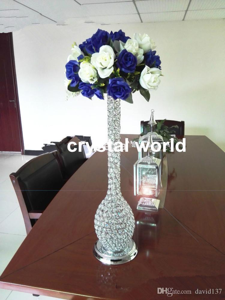 Soporte elegante 2015 de la flor del cristal de la manera for11 centros de mesa de la boda