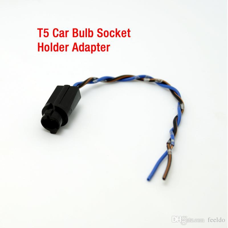 FEELDO T5 Car LED Portalampada con adattatore prese di corrente # 3816