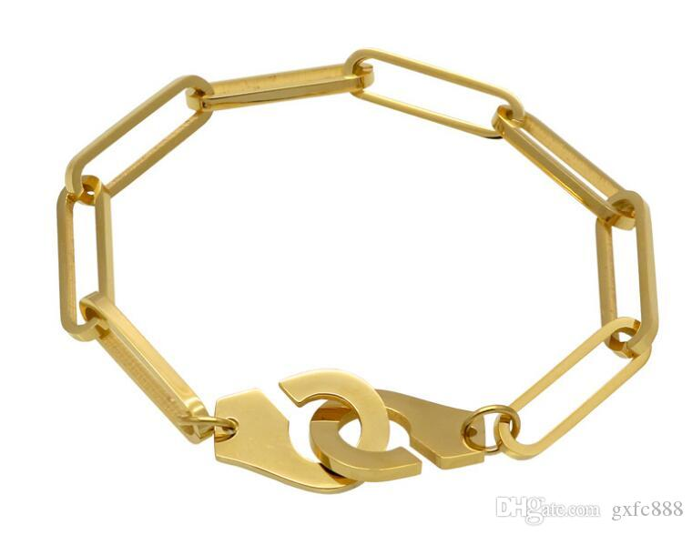 Europa und die Vereinigten Staaten Gezeiten Marke einfache Persönlichkeit Edelstahl Paar Schmuck Gezeiten Männer Flut Frauen Titan Handschellen Armband