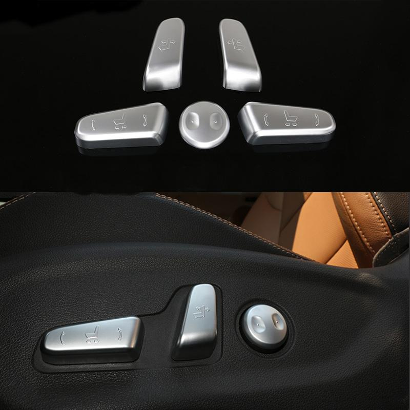 Car Seat Adjustment Knob Button Switch Interior Decoration Trim For