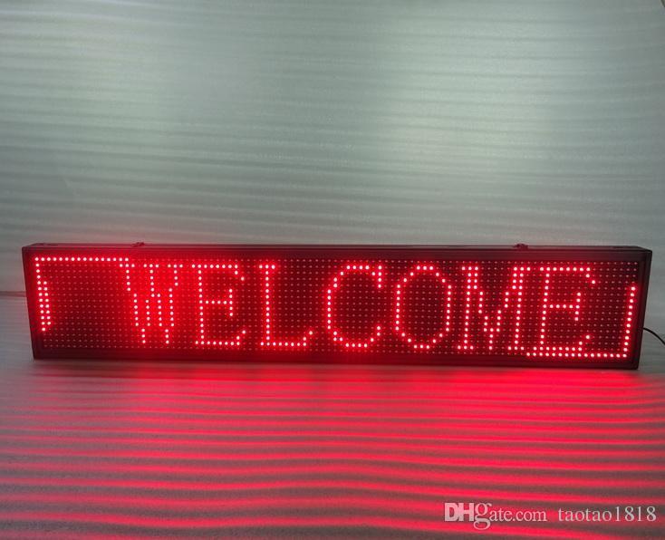 Sıcak Satış Grafik Yarı açık p10 Led Burcu Hareketli Kurulu Programlanabilir Ekran 100 cm X 20 cm kırmızı renk