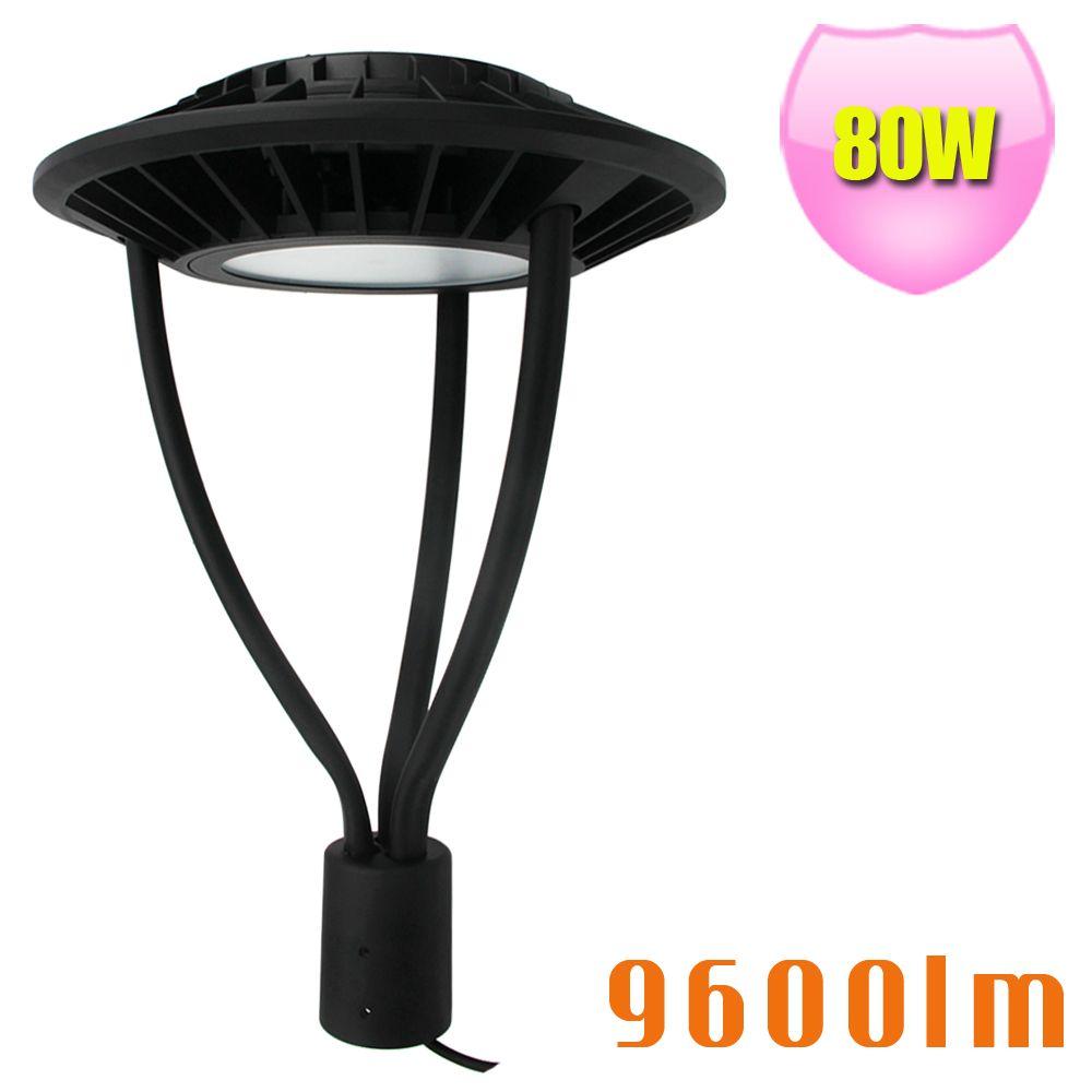 80W LED Post Top Garden Light Replace 250W Metal Halide