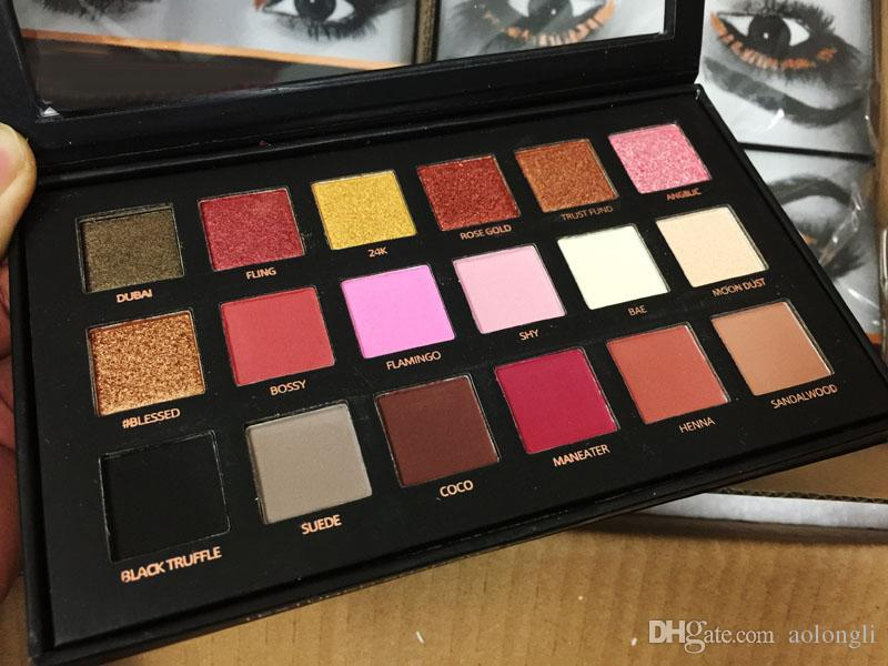 18 Colors Eyeshadow Palette Rose Gold Textured Palette Brand Makeup Eye shadow Beauty Palette Matte Shimmer Cosmetics free shipping