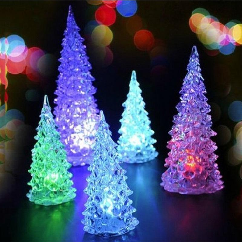 wholesale christmas tree decoration colorful mini light changing night lamp new year festival party kids toys gift l2370 lights change color kids light