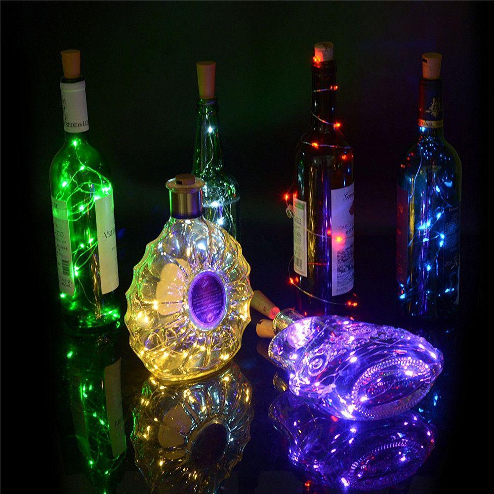 2M 20LED 램프 코르크 모양의 병 마개 빛 유리 와인 1M 크리스마스 파티 웨딩 할로윈에 대 한 LED 구리 와이어 문자열 조명