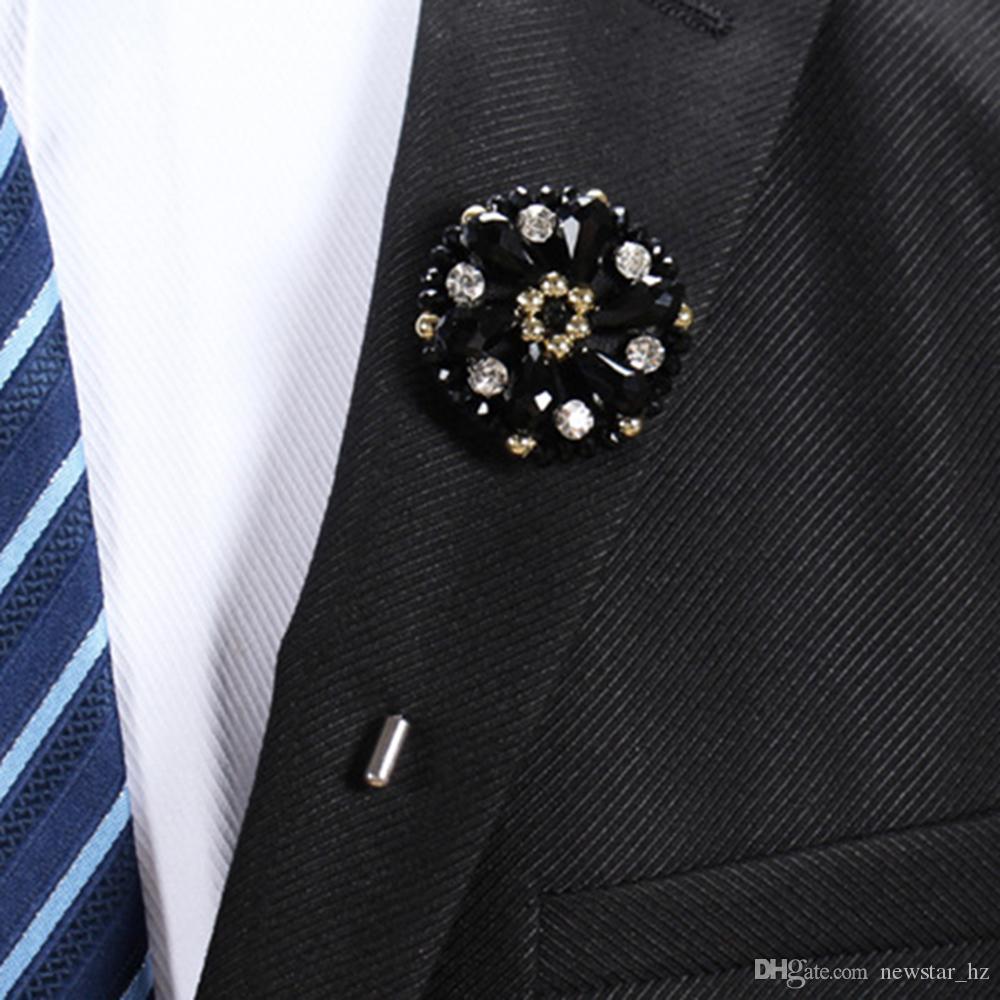 f45652b7924 2019 Handmade Beads Boutonniere Stick Brooch Pin Women Men Lapel Flower  Suit Pins Brooches Wedding Engagement Party Tuxedo Decor Corsage From  Newstar_hz, ...