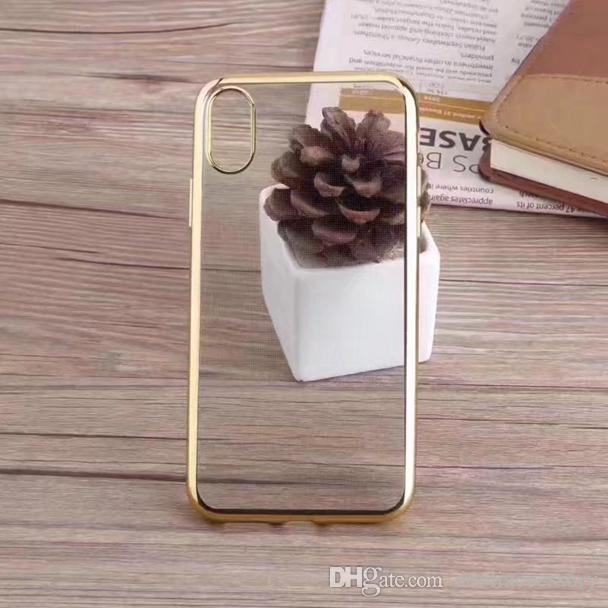 Electroplate 블링 TPU 소프트 케이스 Iphone X 8 7 Plus 6 6S SE 5 5S 갤럭시 S8 S7 EDGE A3 A5 A7 J2 J3 J5 J7 2017 A310 C5 C7 투명 스킨 커버