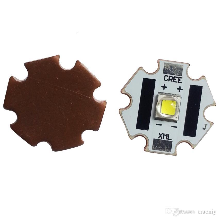 XML2 LED Star con base in rame da 20mm Cree XM-L2 U2 6500K 1A Emettitore LED a luce bianca