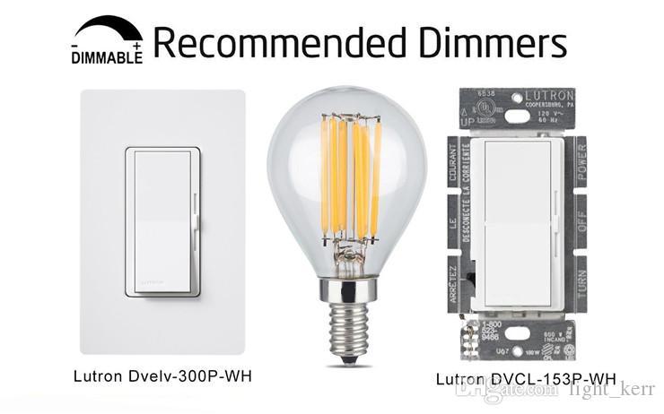 4W Dimmable Edison Style Antique LED Filamento Globo Bombilla Soft White 400LM E12 / E27 G45 Clear Glass Forma 40W Equivalente incandescente
