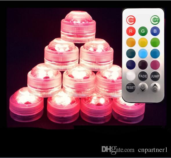 RGB Mini led diamond lamp 3 led patch waterproof IP68 candle light remote control colorful diving light night light control