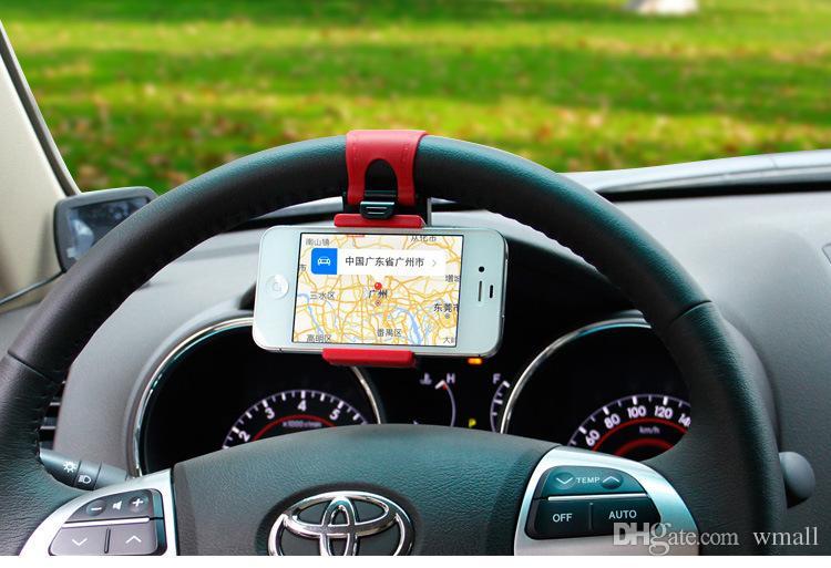 Evrensel Araba Direksiyon Cradle cep telefonu Tutucu Klip Araba Bisiklet dağı Standı Esnek Telefon iphon6 için 86mm uzatmak standı artı