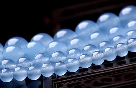 2017 Hot sale natural manual DIY Light blue Chalcedony beads 4mm 6mm 8mm 10mm 12mm jade Light blue Jade Bead Fit Bracelet Necklace