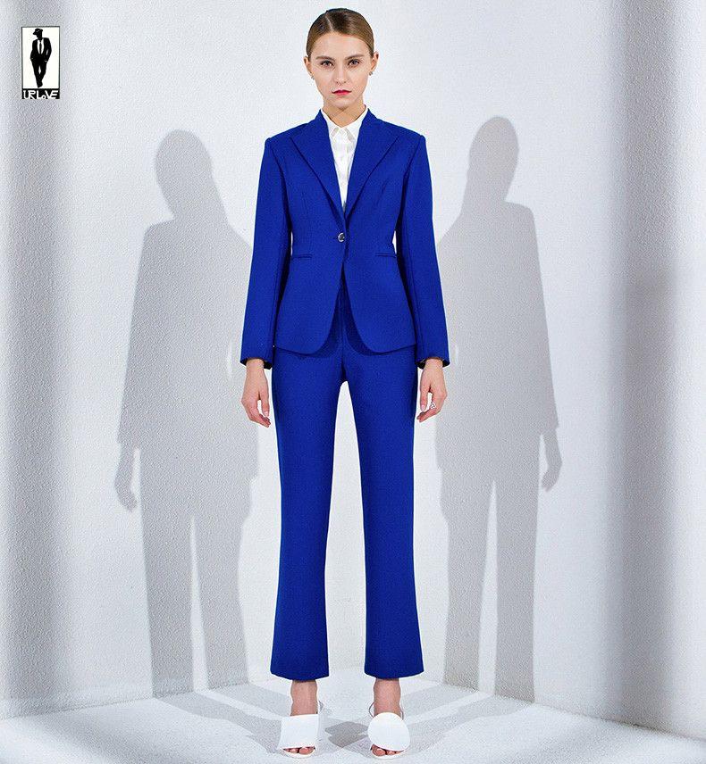 2017 Ur 53 Custom Royal Blue Work Bussiness Formal Elegant Women ...