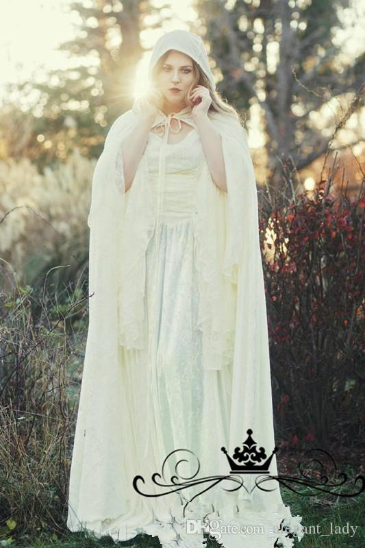 Vintage Lace Gothic Plus Size Evening dress With Cloak A Line Bell Long Sleeve Renaissance Celtic Medieval 2018 New halloween prom gown