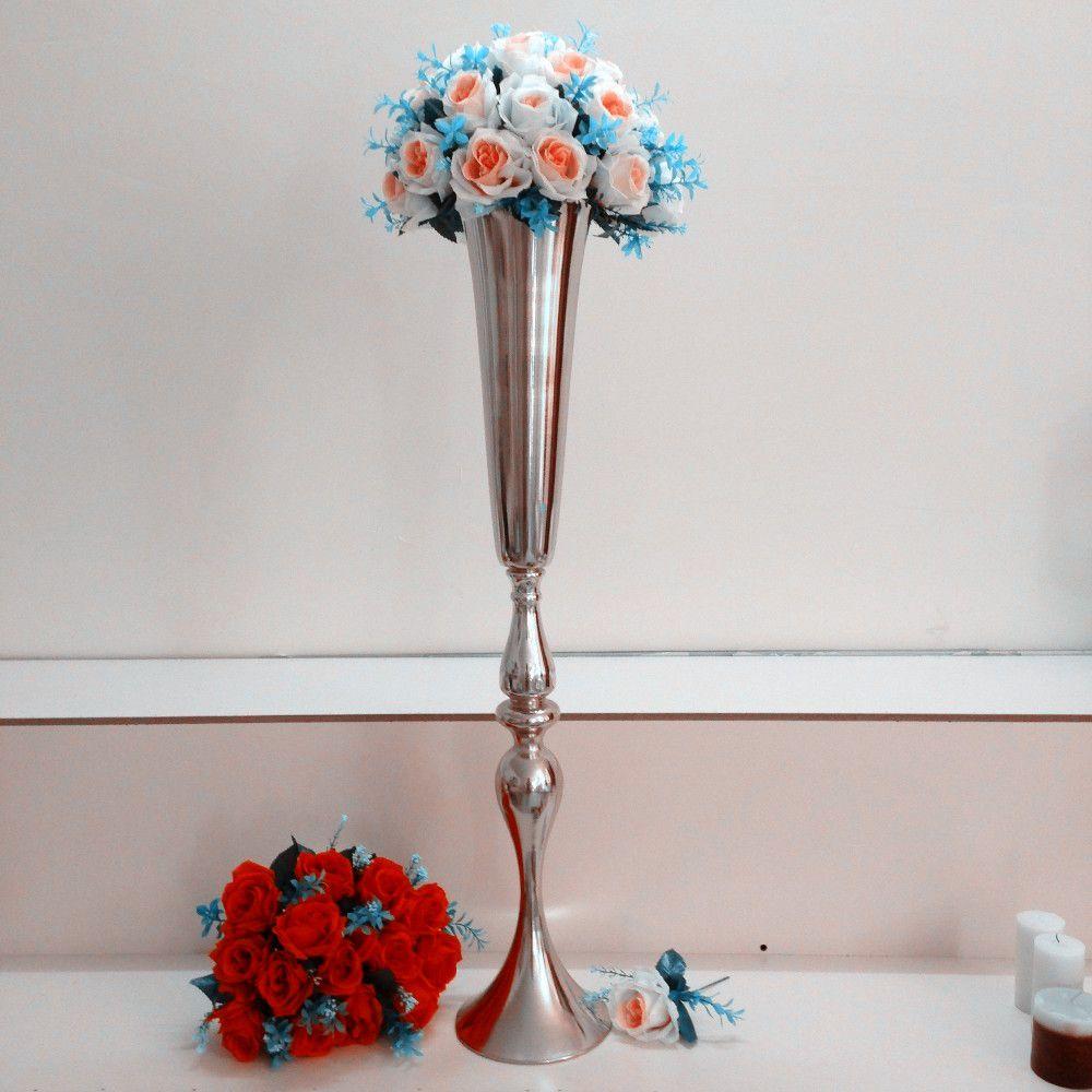 Tall Goldwedding Pillar Flower Stand,vase Centerpieces for Aisle ...