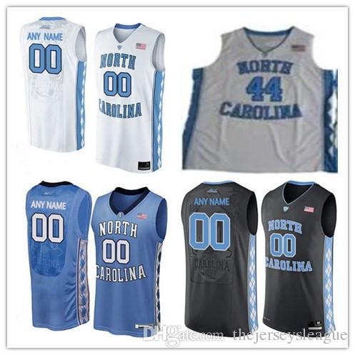 mens north carolina tar heels college basketball custom 2 5 11 15 23 white black blue stitched perso