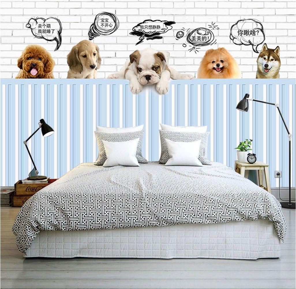 Pet Paradise 3d Wallpaper Cute Dog Photo Wallpaper Custom