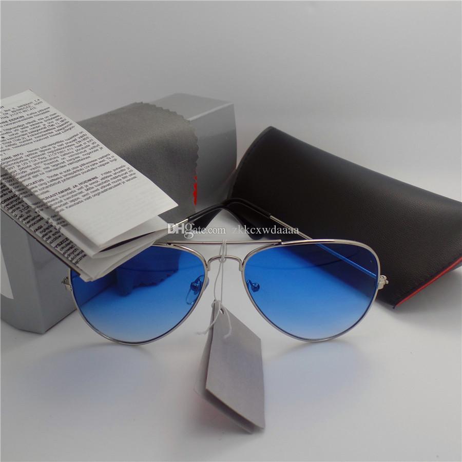 Alta qualidade Da Marca Designer de Moda Espelho Das Mulheres Dos Homens Polit Sunglasses UV400 Esporte Do Vintage óculos de Sol Com caixa e casos