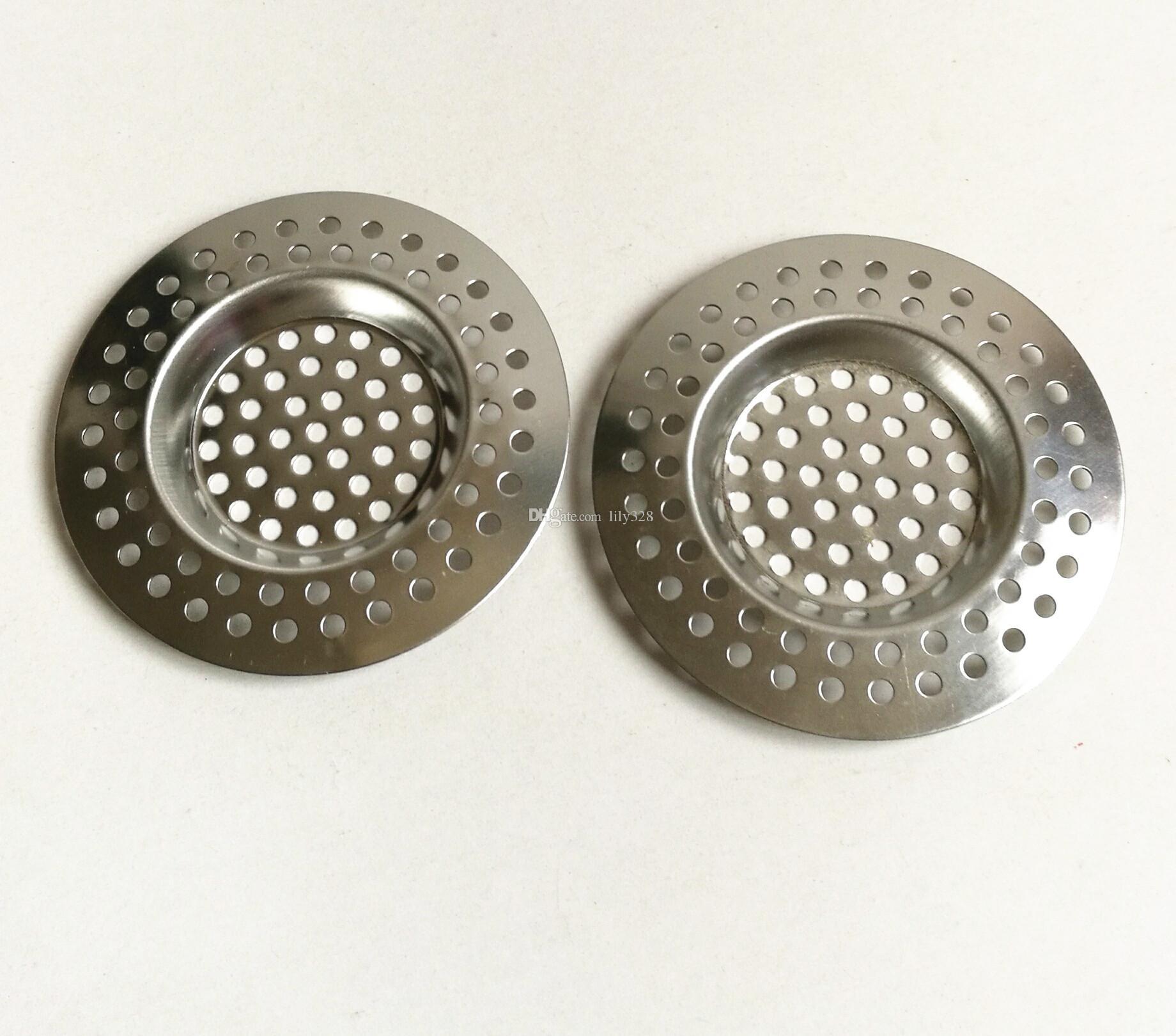7.5 cm Stainless Steel Round Floor Drain Kitchen Sink Filter Sewer Drain Hair Colanders & Strainers Filter Bathroom